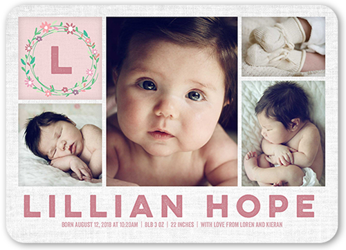 birth announcements baby birth announcement cards shutterfly
