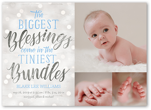 Photo Card New Baby Baby Card Baby Announcement Baby Baptism Baby Boy Card Photo Birth Announcement Boy Birth Announcement