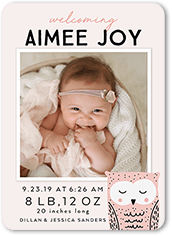 wild welcome girl birth announcement