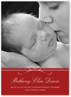 beautifully wrapped birth announcement 5x7 flat