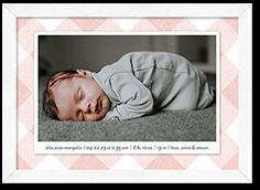 framed tartan birth announcement