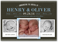Twin Birth Announcements Creative Twin Pregnancy Cards Shutterfly