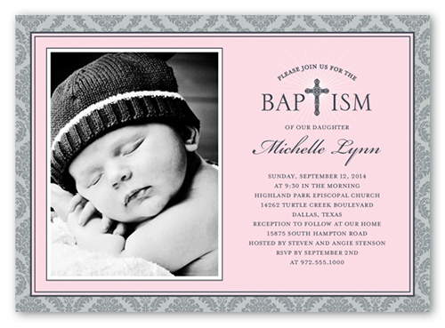 Radiant cross girl 5x7 invitation baptism invitations shutterfly radiant cross girl baptism invitation stopboris