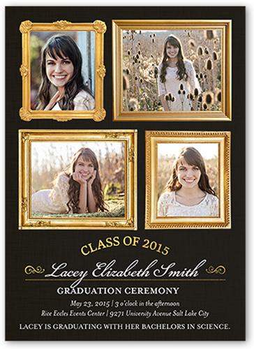 Fabulous Frames Graduation Invitation by Petite Lemon