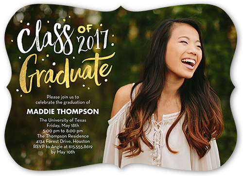 Chic Alumni Graduation Invitation, Square