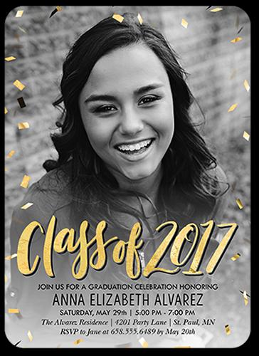 Jubilant Class Graduation Invitation, Rounded Corners