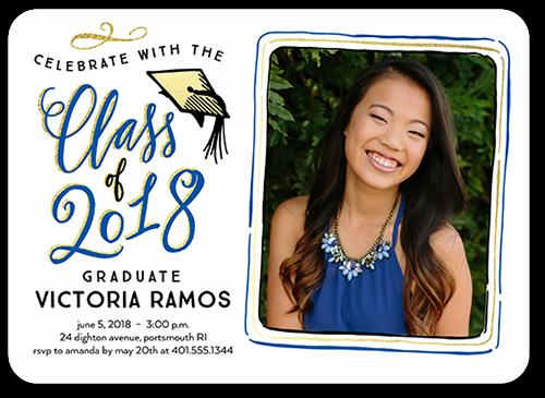 Jubilant Alumni Graduation Invitation, Rounded Corners