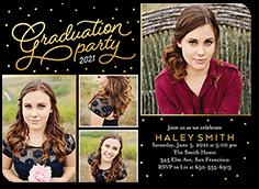 charming year graduation invitation 5x7 flat