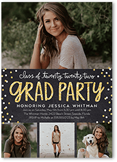 Bokeh Grad Party Graduation Invitation