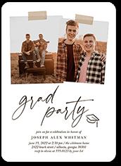 scrapbook grad graduation invitation
