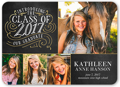 Chalked Collage Graduation Announcement