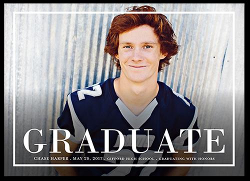 Bold Graduate Graduation Announcement