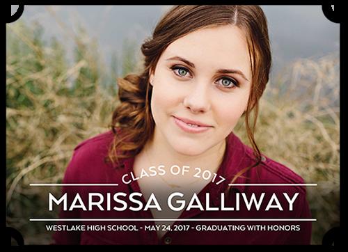 Simplistic Graduate Graduation Announcement