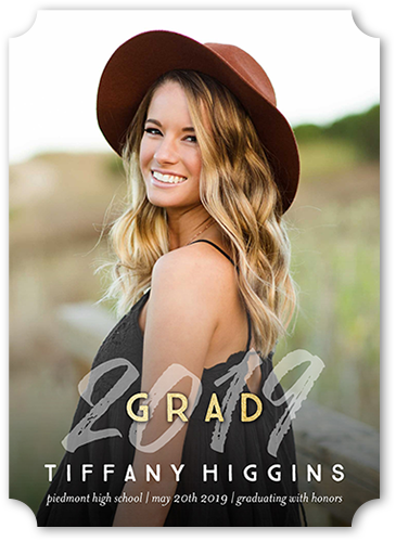 Stylish Grad Graduation Announcement