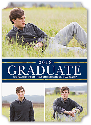Noble Banner Graduation Announcement, Ticket Corners