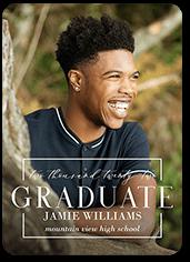 squared modern grad graduation announcement