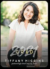 glamorous grad graduation announcement
