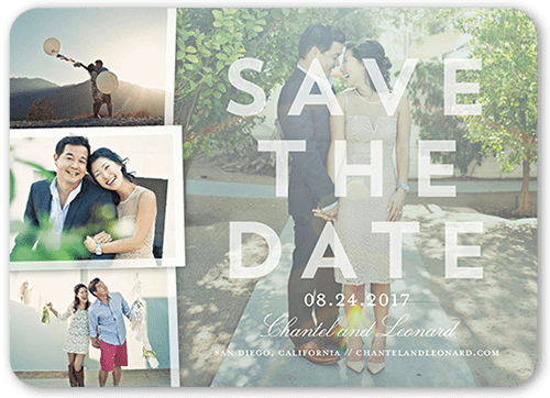 Picturesque Moments Save The Date, Rounded Corners