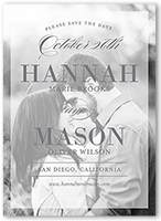 traditional overlay save the date 5x7 flat
