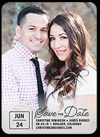 calendar dots save the date 5x7 flat