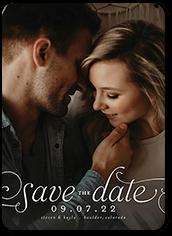 romantic flourish save the date