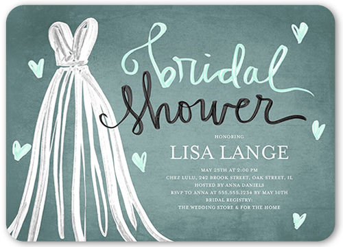 fashionable shower bridal shower invitation