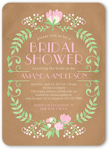 Blossoming Celebration Bridal Shower Invitation