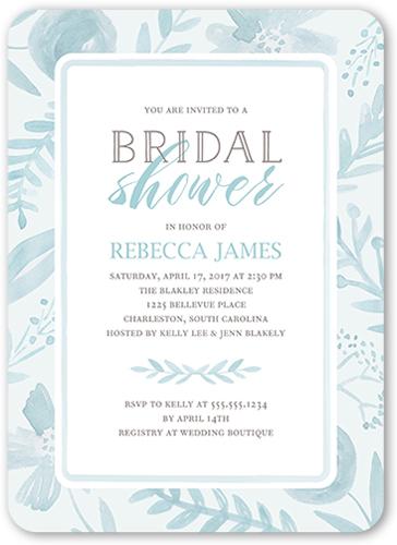 Beach theme bridal shower invitations shutterfly painted botanicals bridal shower invitation filmwisefo
