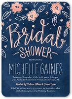 sweet blooming bride bridal shower invitation 5x7 flat
