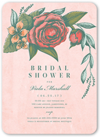vintage beauty bridal shower invitation 5x7 flat
