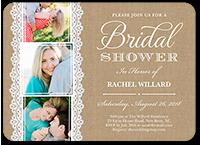 lace and burlap bridal shower invitation 5x7 flat