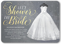 showering the bride bridal shower invitation 5x7 flat