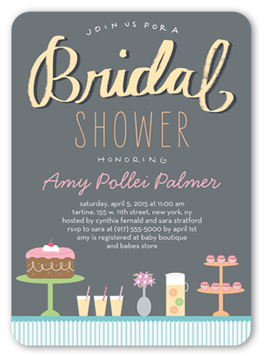 decadent desserts bridal shower invitation by blonde designs