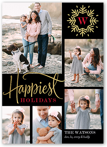 Happiest Snowflake Holiday Card