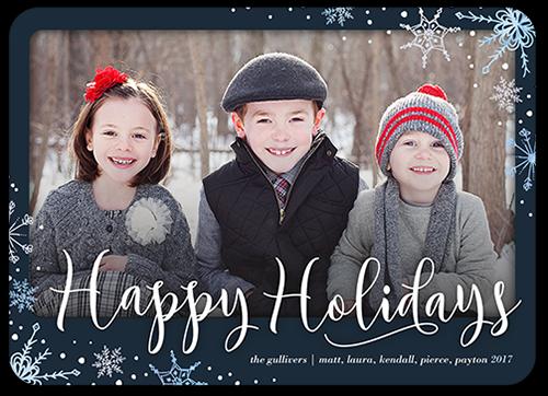 Elegant Snowfall Holiday Card