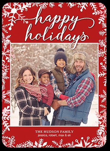 Cheery Falling Flakes Holiday Card