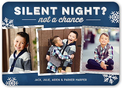 Silent Night Flakes Holiday Card