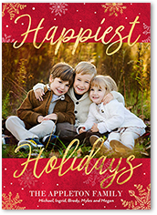 Holiday cards shutterfly rustic snowfall holiday card reheart Images