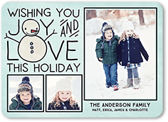 chilly chum holiday card