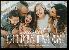 beautiful type holiday card