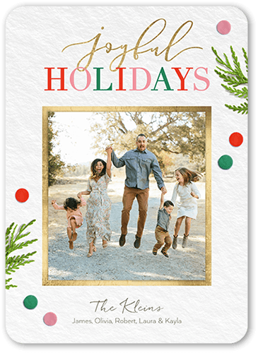 Whimsical Sentiments Holiday Card