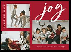 brushed cheer holiday card
