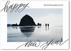 flowing statement holiday card