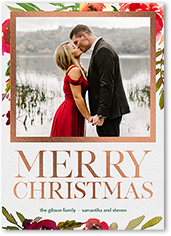 gilded frame holiday card