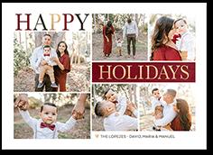 elegant gallery holiday card