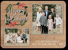 wreathed shine holiday card