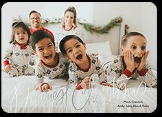 lovable script holiday card