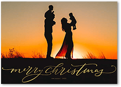 merry writing holiday card