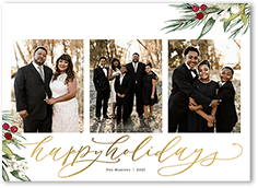 pine berries holiday card