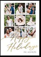 elegant shine holiday card